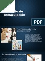 Principio de Inmaculacion