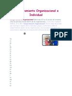 Tutorial 2 Comportamiento Organizacional e Individual