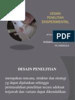 2. Desain Penelitian Experimental (Dr. Atina)