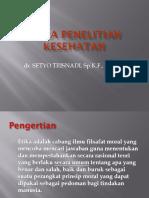 1. Etika Penelitian Dan Ethical Clearance (Dr. Setyo)