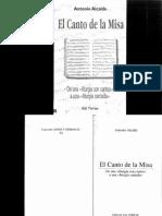 ALCALDE, A. El Canto de La Misa