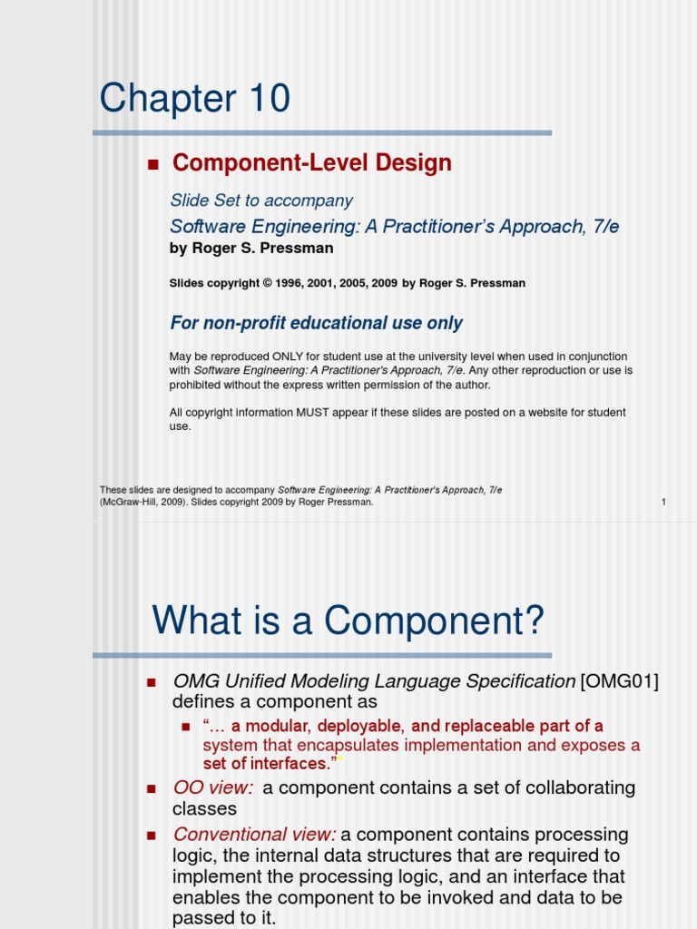 Chapter 10 1 Component Based Software Engineering Component Object Model
