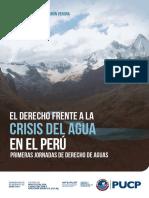 El Derecho Frente a La Crisis Del Agua en El Perú