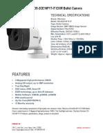 Hikvision DS-2CE16F1T-IT EXIR Bullet Camera