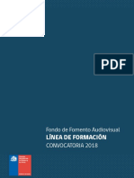Fondos 2018 Audiovisual Formacion