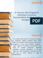 6 Reasons Why Singapore Subsidiary Company Incorporation Works Best for Foreigners