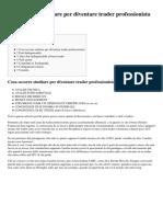 Giovanni Borsi (2014) Cosa Occorre Studiare Per Diventare Trader Professionista (Traderpedia)