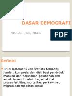 Dasar Demografi (1)