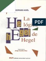 Nöel, George - La Lógica de Hegel (1933)