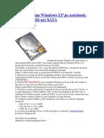Cum Instalam Windows XP Pe Notebook