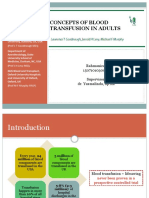 concepts of blood transfusion in adults
