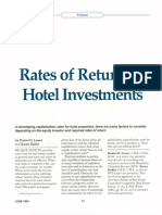 HOTEL_Rates of Return on Hotel Investments