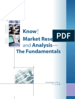 Know! Market Research and Analysis -- The Fundamentals