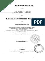 Memoria sobre la vida política y literaria de D. Francisco Martínez de la Rosa - Rebello da Silva (1863)