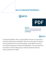 Centrifugal Fans in Industrial Ventilation