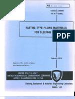 Batting Type Filling Materials