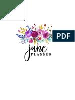 June Planner 2017