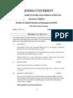 APM 2206 Animal Toxicology Marking Scheme