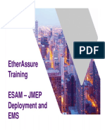 EtherAssure NetComplete Training - Session 3b -Admin - EMS ESAM_JMEP Install