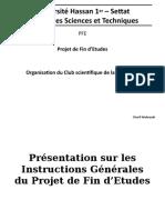 Présentation - Instructions Générales Sur Les PFE