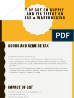 Impact of Gst on Supply Chain