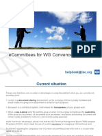 ECommittees for WG Convenors