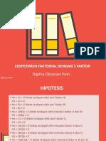 Eksperimen Faktorial 3 Faktor