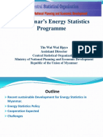 Myanmar's Energy Statistics  Programme