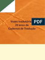 Cadernos de Traducao 20 Anos Vozes Tradutorias Entrevistas