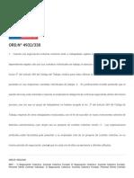 ORD.nº 4932_330 - Normativa Laboral. Dirección Del Trabajo. Gobierno de Chile.