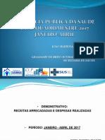 Audiência Pública Prestação de Contas Saúde Casinhas-PE 2017