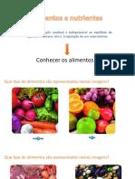 Aula Alimentos Nutrientes Funções
