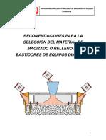 7. Recomendaciones Para Macizado de Bancadas
