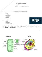 Notes 2.1 Cell Structure