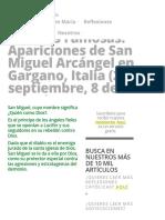 Las Más Famosas_ Apariciones de San Miguel Arcángel en Gargano, Italia (29 de Septiembre, 8 de Mayo) » Foros de La Virgen María