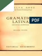 Gramática Latina - Rodolfo Oroz