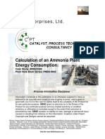 Calc Ammonia Plant Energy Consumption