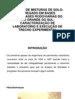 INTRODUÇÃO estudo de mistura de solo-agregado em bases e sub-bases rodoviárias