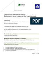 Accesibilidad Ficha Para Presentar Las Experiencias