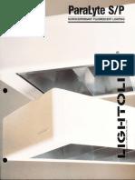 Lightolier ParaLyte S-P Brochure 1987