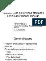 Presentacion Posibles Usos de Terrenos Afectados Por Operaci