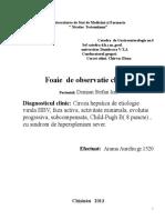Fisa Gastro Ciroza Hepatica Aureliu