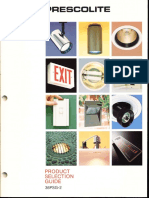 Prescolite Product Selection Guide 36PSG-2 1986