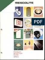 Prescolite Product Selection Guide 36PSG-2 1986