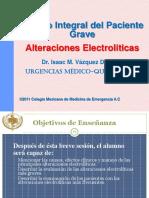 Alteraciones de Liquidos y Electrolitos, Estacion