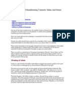 Forward Sales and Manufacturing Contracts