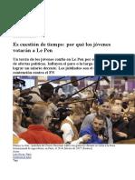 Es Cuestión de Tiempo- Por Qué Los Jóvenes Votarán a Le Pen
