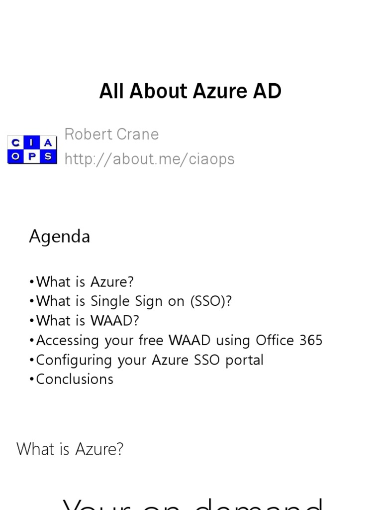 All About Azure AD | Microsoft Azure | Office 365