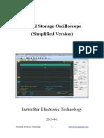 Digital Storage Oscilloscope (Simplified Version)