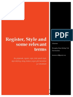 İngilizce Öğretmenliği Alan Bilgisi (ÖABT - ingilizce) Register, Style, Some Relevant Terms baris_ericok